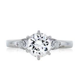 Platinum 1.17ct Round Brilliant Diamond Engagement Ring Size 7.25