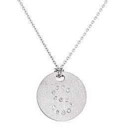 Roberto Coin 18K White Gold 0.06ct Diamond Initail S Necklace