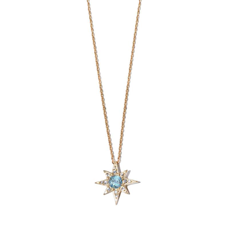 "Image of ""Anzie Blue Topaz Starburst Necklace"""