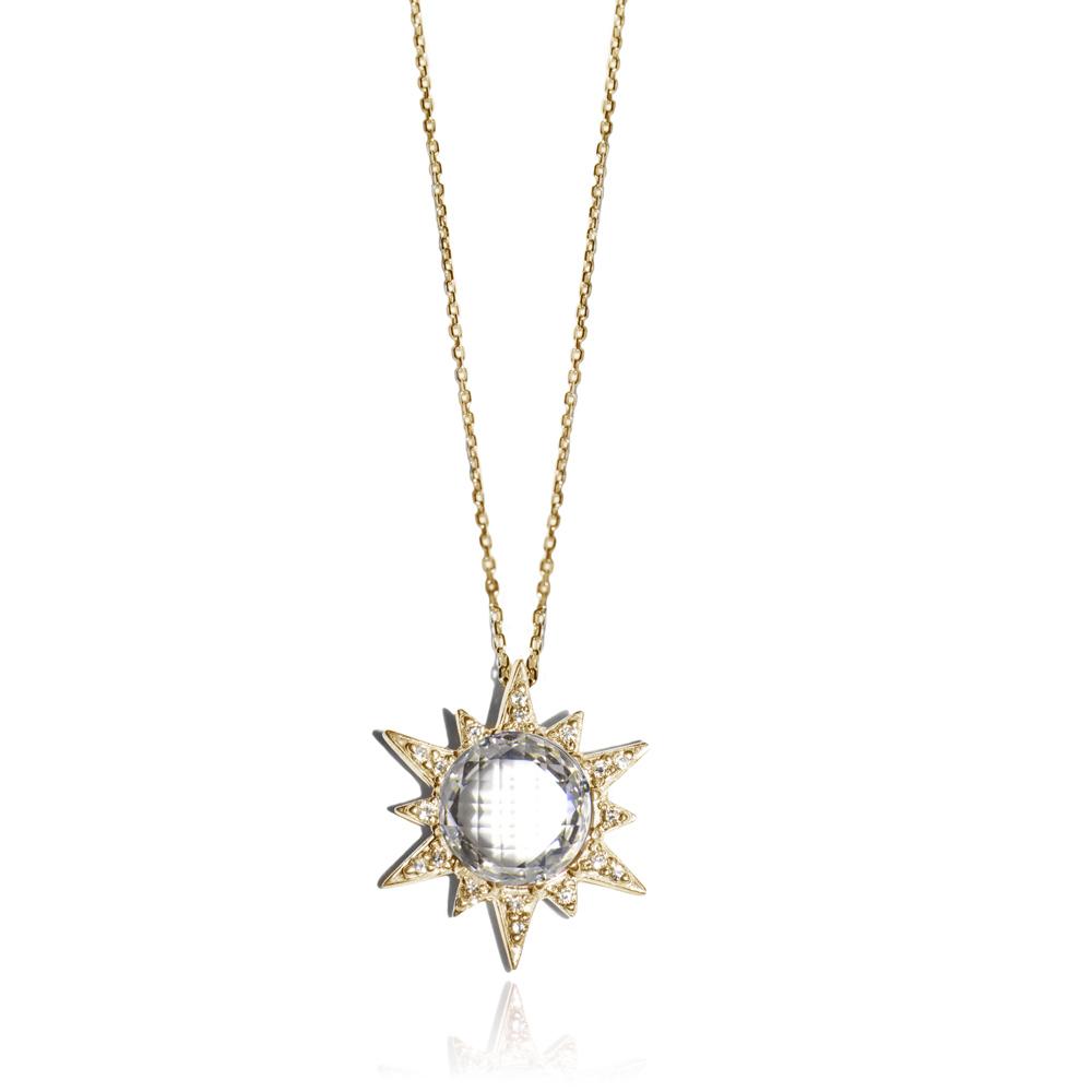 "Image of ""Anzie White Topaz Starburst Necklace"""