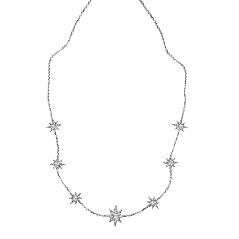 "Image of ""Anzie White Topaz Station Necklace"""