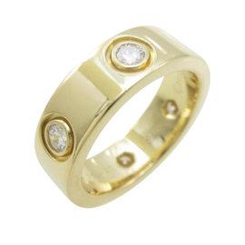 Cartier 750 Yellow Gold Full Diamond Love Ring Size 4.0