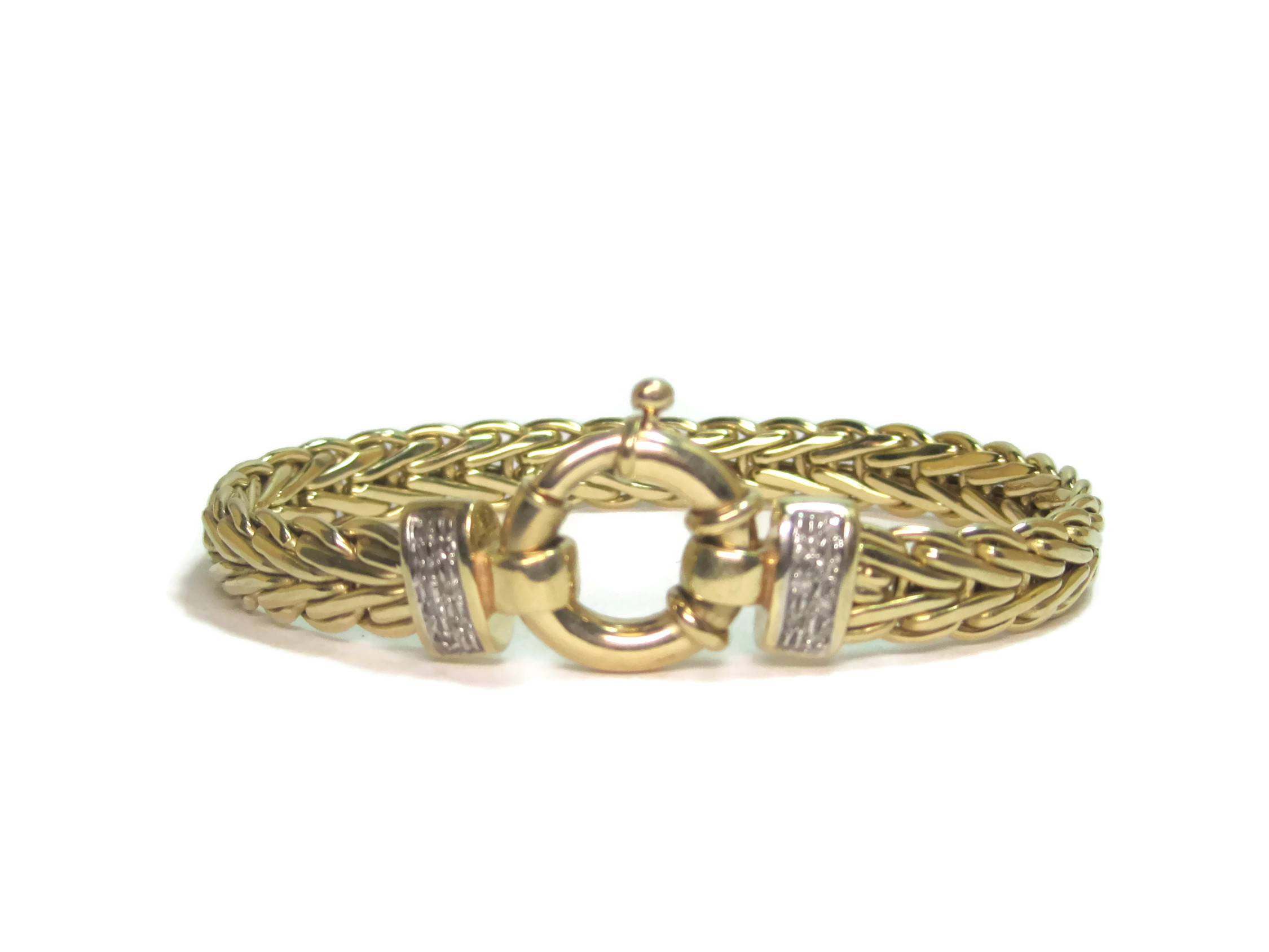 "Image of ""14K Yellow Gold Italian 0.14ct. Diamond Bracelet"""