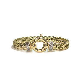 14K Yellow Gold Italian 0.14ct. Diamond Bracelet