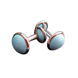 Tiffany & Co. Elsa Peretti Sterling Silver & Turquoise Cufflinks