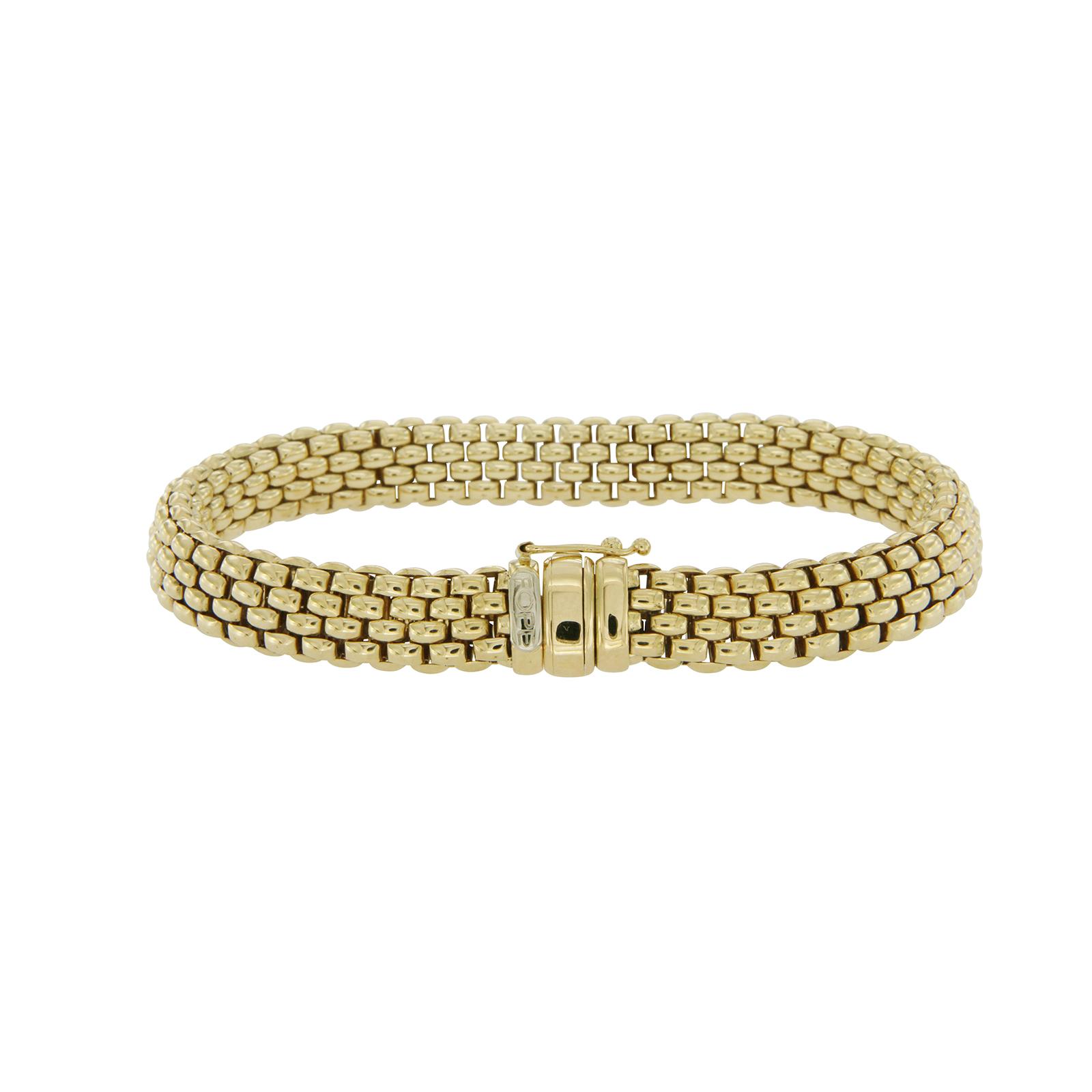 "Image of ""Fope 18K Yellow Gold Profili Mesh Bracelet"""