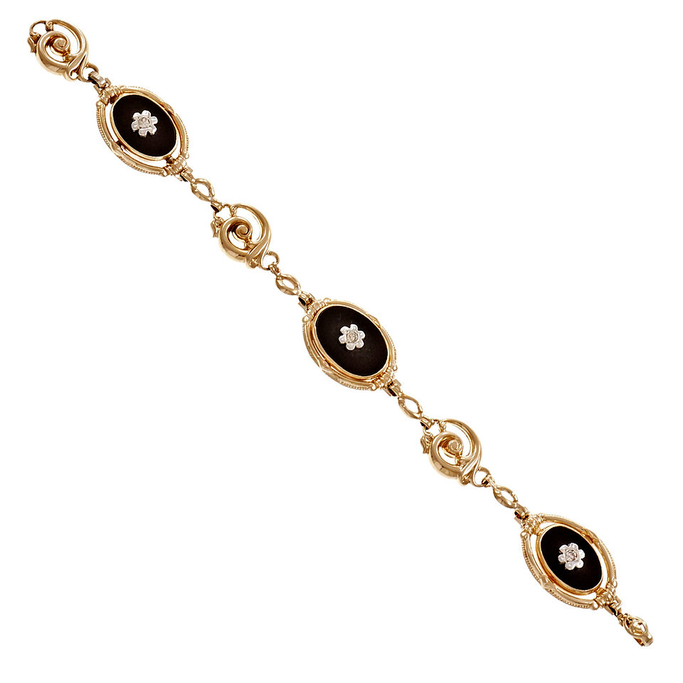 "Image of ""10K Yellow Gold & 0.15ct. Diamond Esemco Bracelet"""