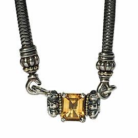 Lagos Caviar Glacier 18K Yellow Gold & Sterling Silver Citrine Pendant Necklace