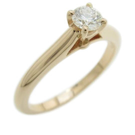 Cartier 18K Pink Gold Diamond Ring Size 4.75