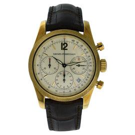 Girard Perregaux 4956 18K Yellow Gold & Leather 40mm Watch