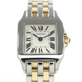 Cartier Santos Stainless Steel & Yellow Gold Quartz 28mm Womens Watch