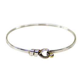 Tiffany & Co. 925 Sterling Silver & 18K Yellow Gold Bangle Bracelet