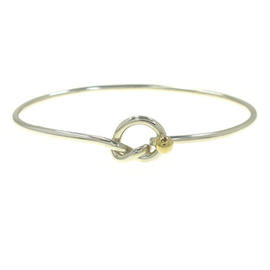 Tiffany & Co. 18K Yellow Gold 925 Sterling Silver knot Bangle Bracelet