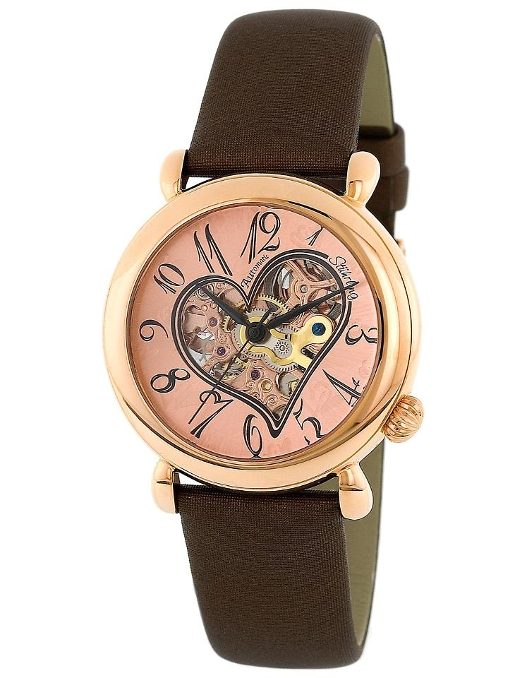 "Image of ""Stuhrling Cupid II 109.1245E14 Rose-Tone Stainless Steel & Leather"""