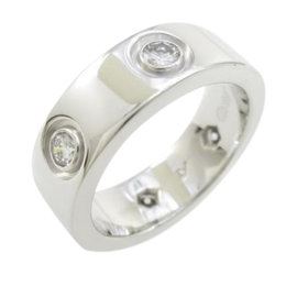 Cartier Love 18k White Gold Diamond Ring Size 4
