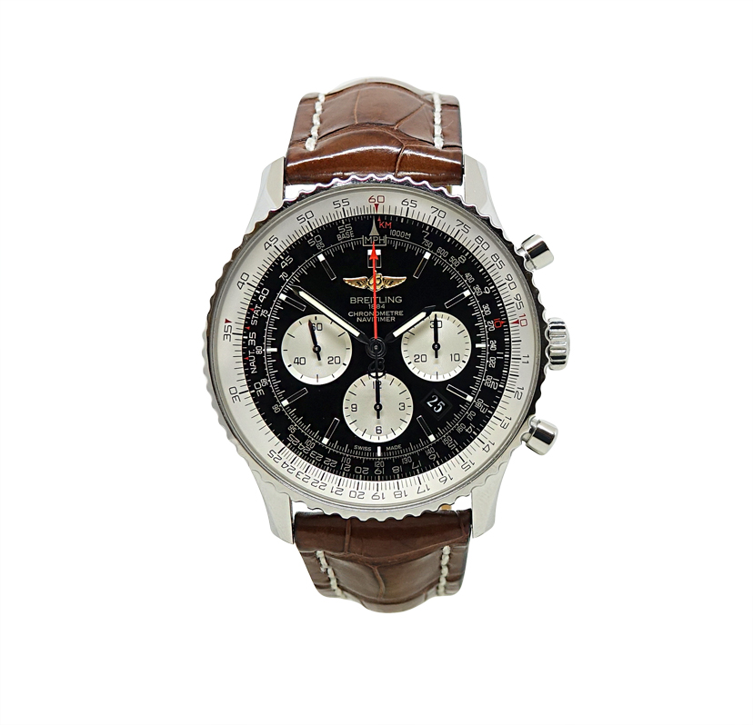 """Image of """"Breitling Ab0127 Stainless Steel Navitimer Automatic 46mm Mens Watch"""""""