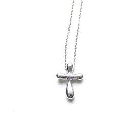 Tiffany and Co. Elsa Peretti Platinum Cross Pendant Necklace