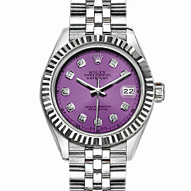 Rolex Datejust Stainless Steel with Purple Dial 36mm Men Watch