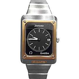 Omega Seamaster Marine 1320 18K Gold Bezel Mens Watch