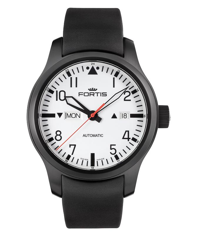 "Image of ""Fortis Aeromaster F-43 Flieger 655.18.12 K Stainless Steel White Dial"""