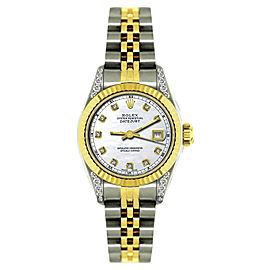 Rolex Datejust 18K Yellow Gold & Stainless Steel MOP & Diamond 26mm Watch