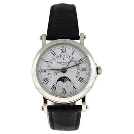 Patek Philippe Grand Complications 5059P Platinum & Leather 36mm Watch