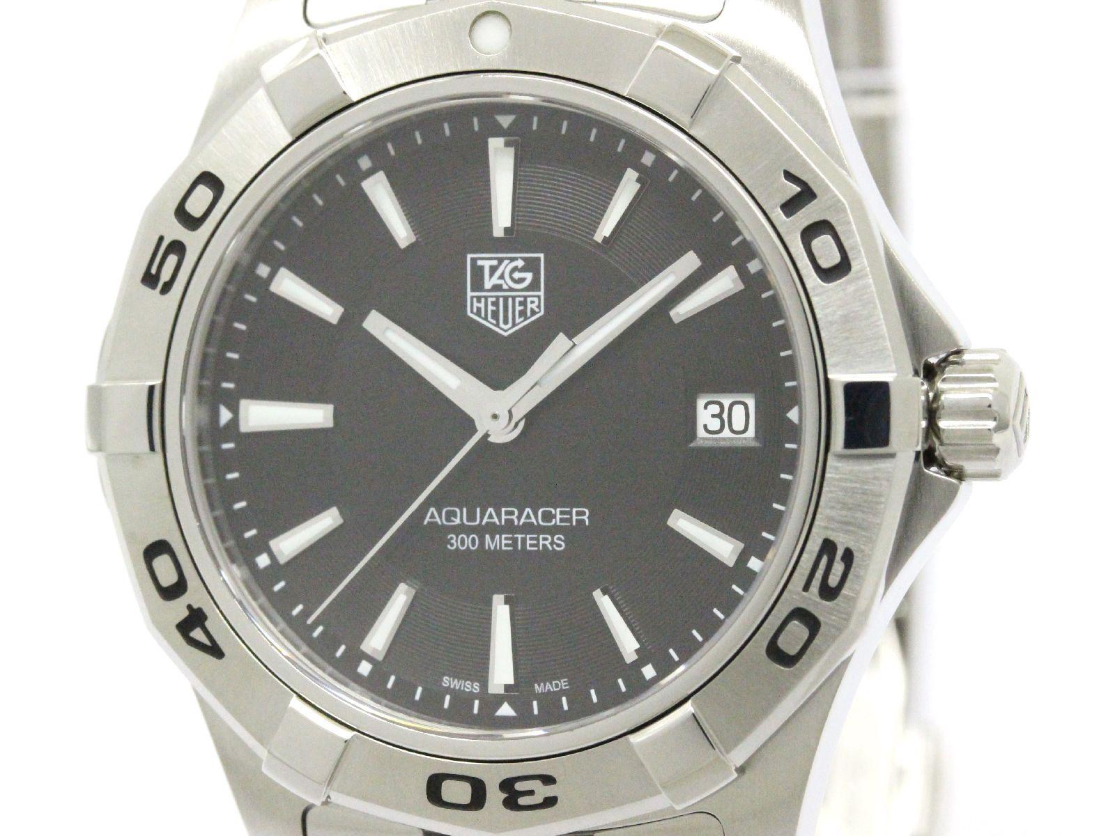 "Image of ""Tag Heuer Aquaracer Wap1110 Stainless Steel Quartz 40mm Mens Watch"""