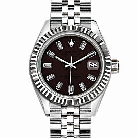 Rolex Datejust Stainless Steel with Dark Brown Dial 36mm Mens Watch