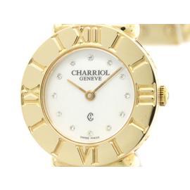 Charriol St-Tropez 028R Gold Pated Quartz 24mm Womens Watch