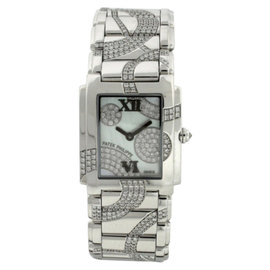 Patek Philippe Twenty-4 4910/49G Diamond & 18K White Gold Womens Watch