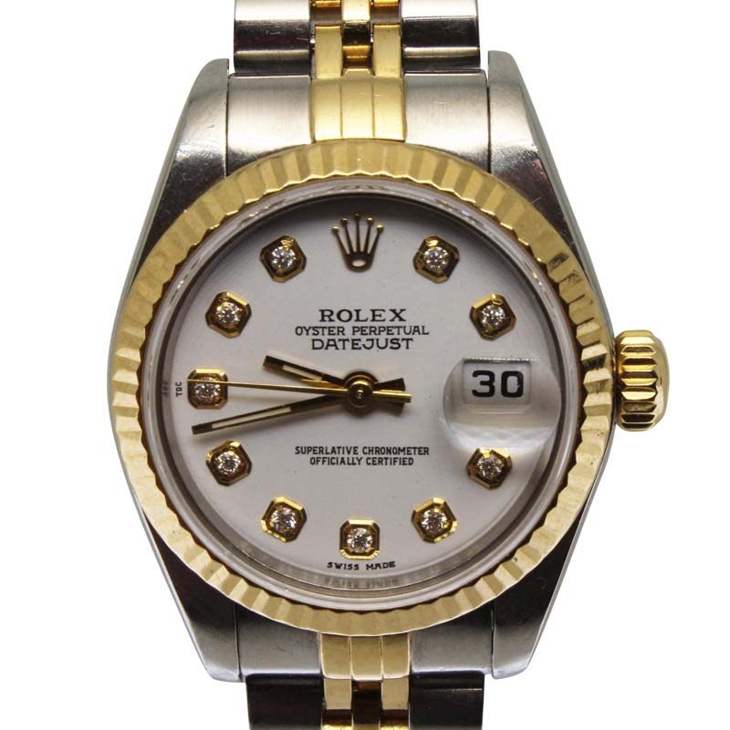"""Image of """"Rolex Datejust Stainless Steel & Yellow Gold 25mm Womens Watch"""""""