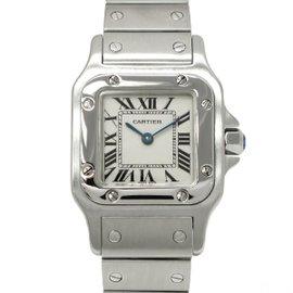 Cartier Santos Garbe W20056D6 Stainless Steel Quartz 24mm Womens Watch