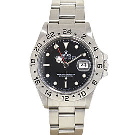 Rolex Explorer II 16550 Stainless Steel Black Dial Automatic 40mm Mens Watch