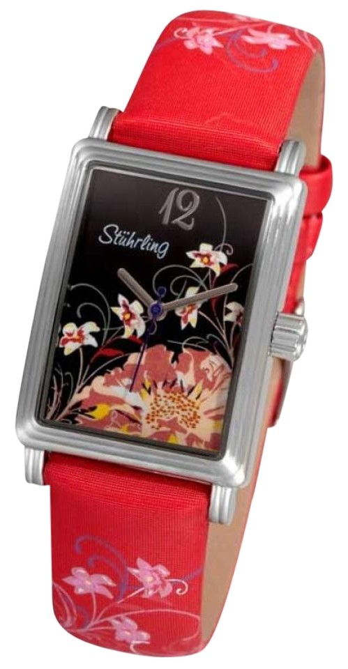 """Image of """"Stuhrling Botanica 306.1215H83 Stainless Steel & Leather 25mm x 33mm"""""""