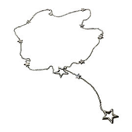 Tiffany & Co. 925 Sterling Silver Star Link Lariat Necklace