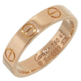 Cartier 18K Rose Gold Mini Love Ring Size 4