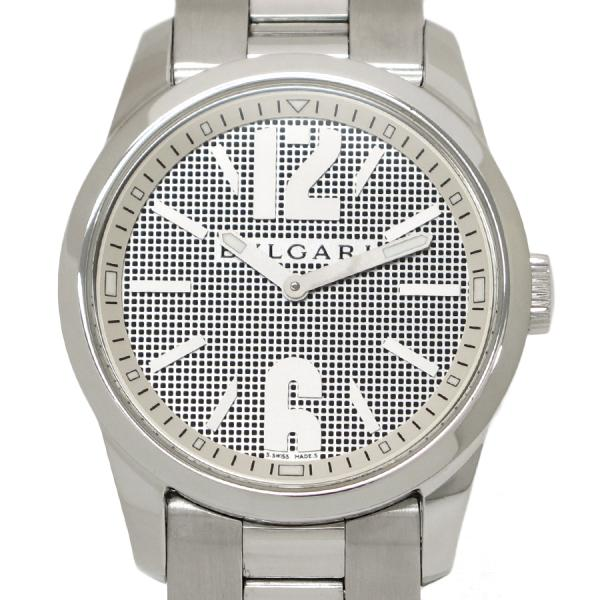 "Image of ""Bulgari Solo Tempo St37S Stainless Steel Quartz 37mm Mens Watch"""