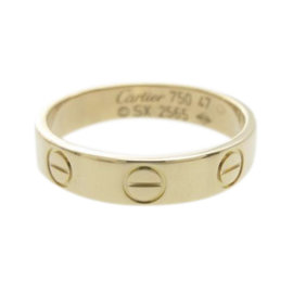 Cartier Mini Love 18k Rose Gold Ring Size 4