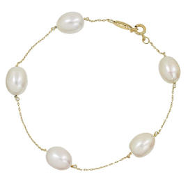 Tiffany & Co. By The Yard 18K Yellow Gold 0.05 Ct Pearl Bracelet