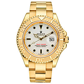 Yellow Gold Sapphire Mens Watch Dial Size 40mm