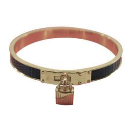 Hermes Metal Leather Kellly Bangle Bracelet