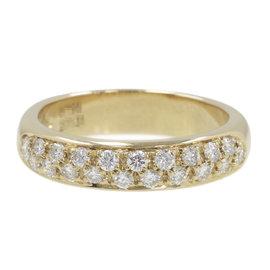 Boucheron 18K Yellow Gold Diamond Ring Size 5.25