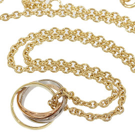 Cartier 18K Yellow White and Rose Gold Baby Trinity Chain Pendant Necklace