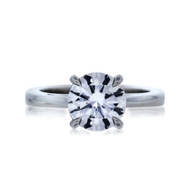 Platinum 1.00ct Diamond Engagement Ring Size 6