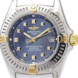 Breitling Callistino B72345 Stainless Steel & 18K Yellow Gold Quartz 27mm Womens Dress Watch