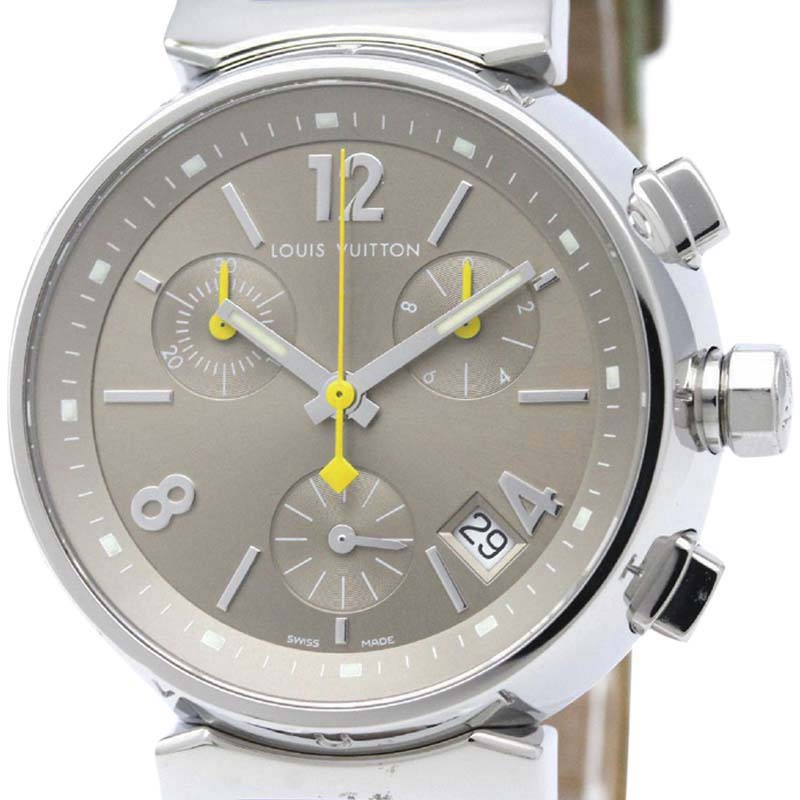 "Image of ""Louis Vuitton Tambour Q1322 Stainless Steel 34mm Womens Watch"""