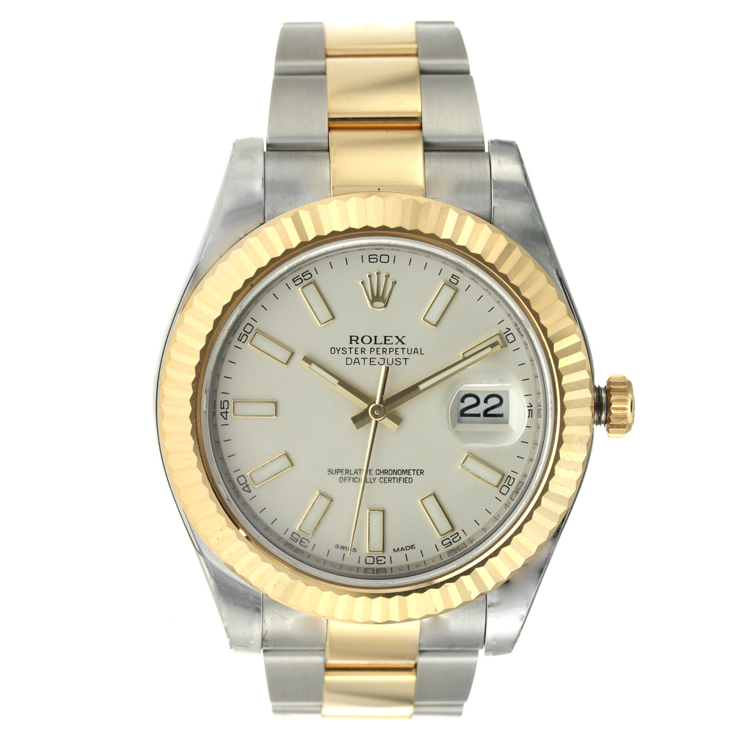 "Image of ""Rolex Date Just II 41Mm Steel and Gold"""