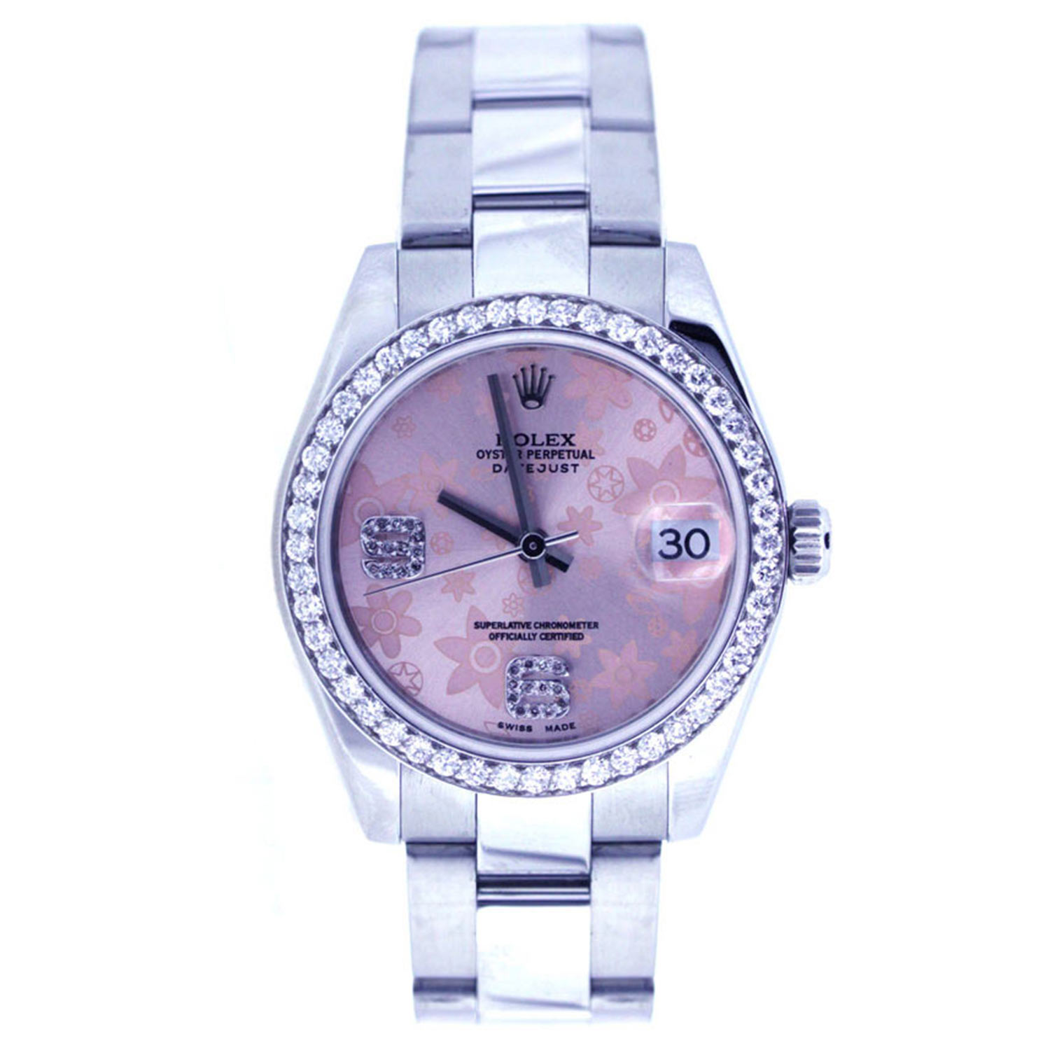 "Image of ""Rolex Midsize 31Mm Stainless Steel Diamond Bezel"""