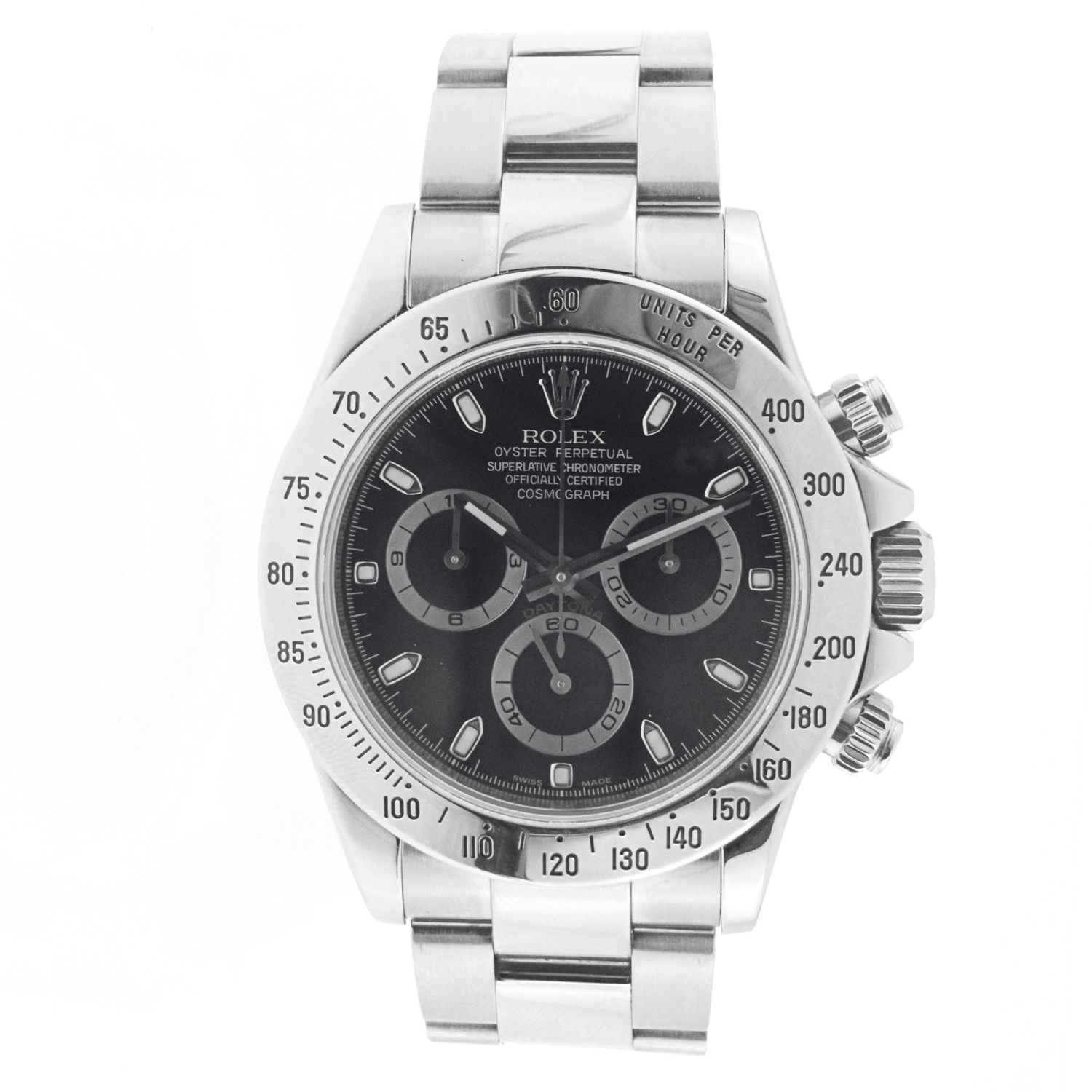 """Image of """"Unisex Rolex Daytona Cosmograph Stainless Steel Black Dial"""""""
