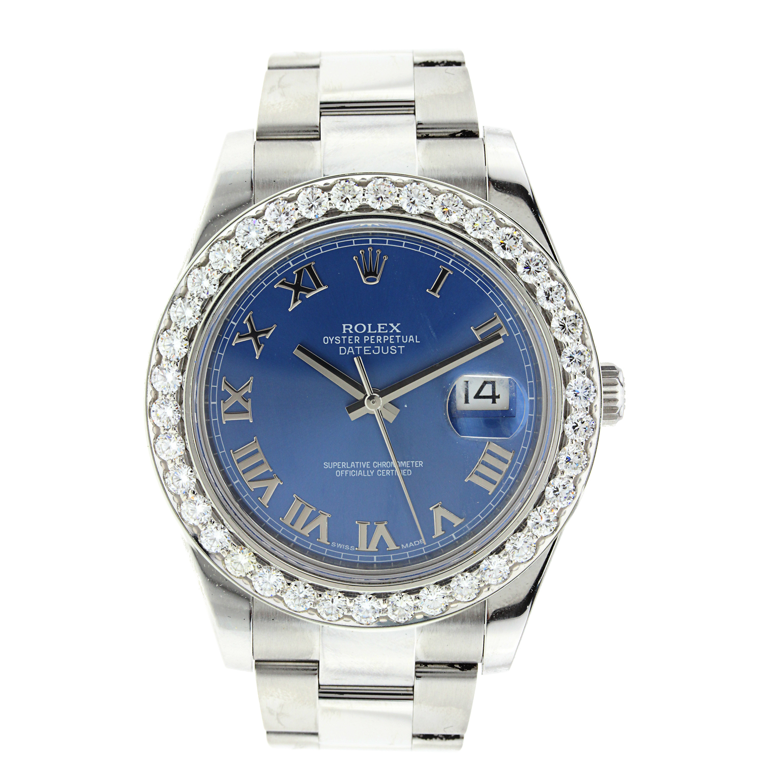 "Image of ""Rolex Datejust II Stainless Steel with Diamond Bezel"""